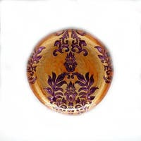 Damask Copper and Purple Canape Plate