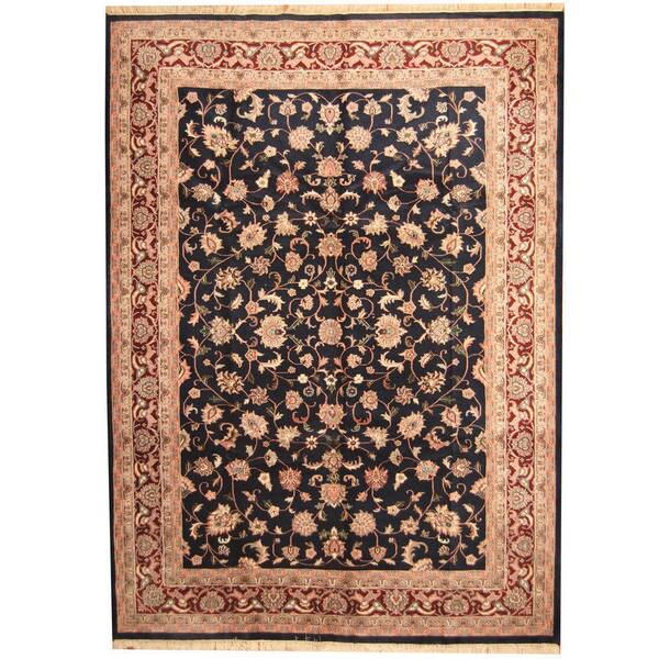 Handmade Herat Oriental Indo Kashan Wool Rug - 10' x 14' (India)