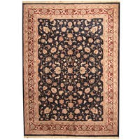 Herat Oriental Indo Hand-knotted Kashan Wool Rug - 10' x 14'
