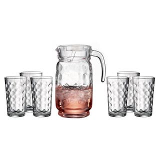 Style Setter Summer Collection Assorted Styles 7-piece Set of Pitcher and Glasses|https://ak1.ostkcdn.com/images/products/11765049/P18678753.jpg?impolicy=medium
