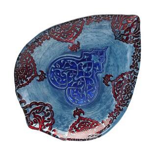 Casa Blanca Turquoise/ Lapis / Red Plate