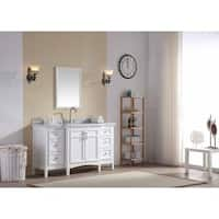 Ari Kitchen and Bath Luz White 60-inch Single Bathroom Vanity Set