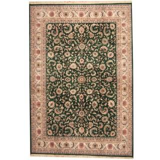 Herat Oriental Indo Hand-knotted Kashan Wool Rug (8'7 x 12'5)