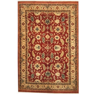 Herat Oriental Indo Hand-knotted Mahal Wool Rug (10' x 14'10)