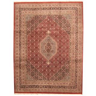 Herat Oriental Indo Hand-knotted Bidjar Wool Rug (9'4 x 12'4)