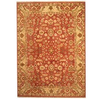 Herat Oriental Indo Hand-knotted Mahal Wool Rug (9' x 12'5) - 9' x 12'5