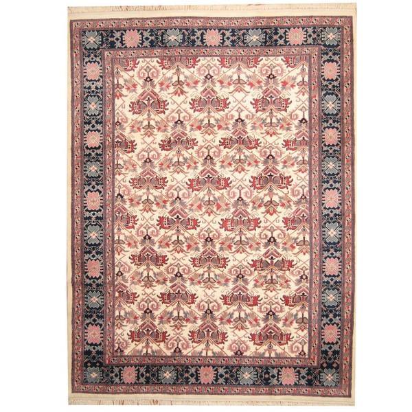 Handmade Herat Oriental Indo Heriz Wool Rug - 8'9 x 11'7 (India)
