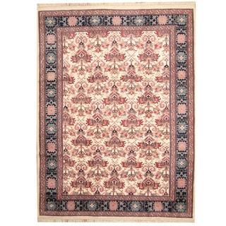 Herat Oriental Indo Hand-knotted Heriz Wool Rug (8'9 x 11'7)