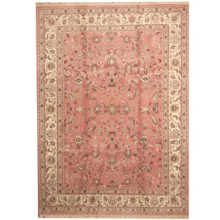 Herat Oriental Indo Hand-knotted Kashan Wool Rug (8'10 x 12'1)