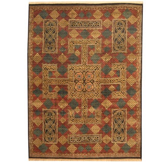 Herat Oriental Indo Hand-knotted William Morris Wool Area Rug (9' x 12'3)