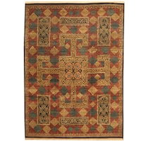 Herat Oriental Indo Hand-knotted William Morris Wool Area Rug (9' x 12'3) - 9' x 12'3