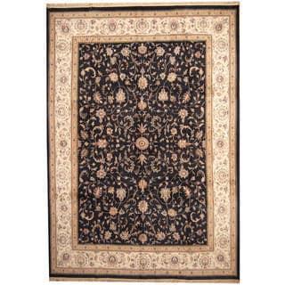 Handmade One-of-a-Kind Kashan Wool Rug (India) - 10' x 14'