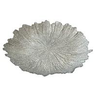 Briliant Coral Silver Dinner Plate