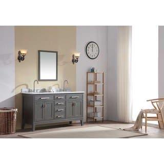 Ari Kitchen and Bath Danny 60-inch Double Bathroom Vanity Set