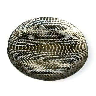 Snakeskin Silver/Brown/Gold Canape Plate