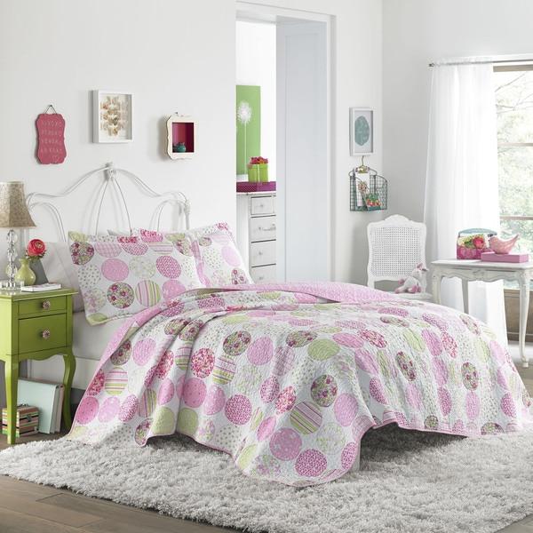 Laura Ashley Baylie Patchwork Cotton Quilt Set - Free-5696