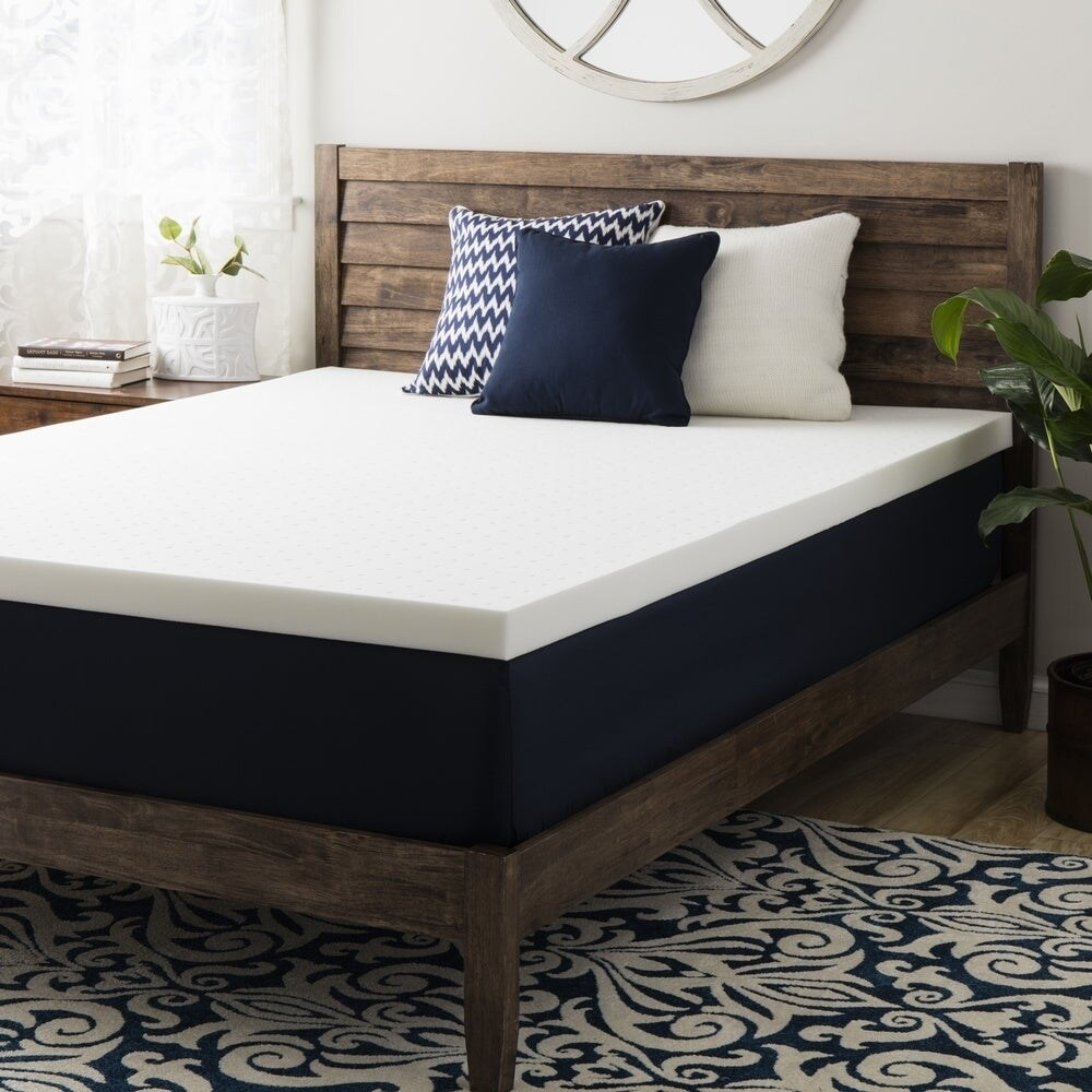Crown Comfort 2-inch Ventilated Memory Foam Mattress Topp...