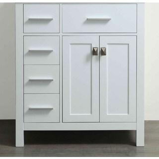 Bosconi 29-inch White Vanity Cabinet