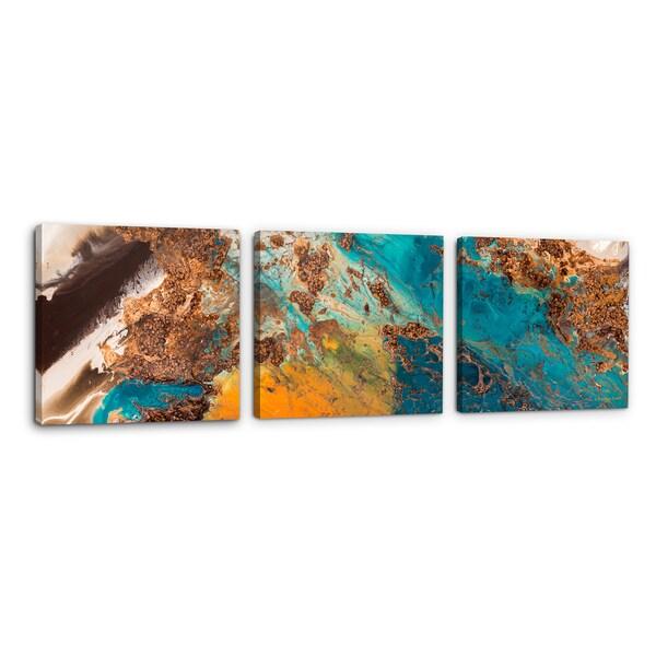 L Dawning Scott Copper Devotion Triptych Canvas Wall Art 24 x