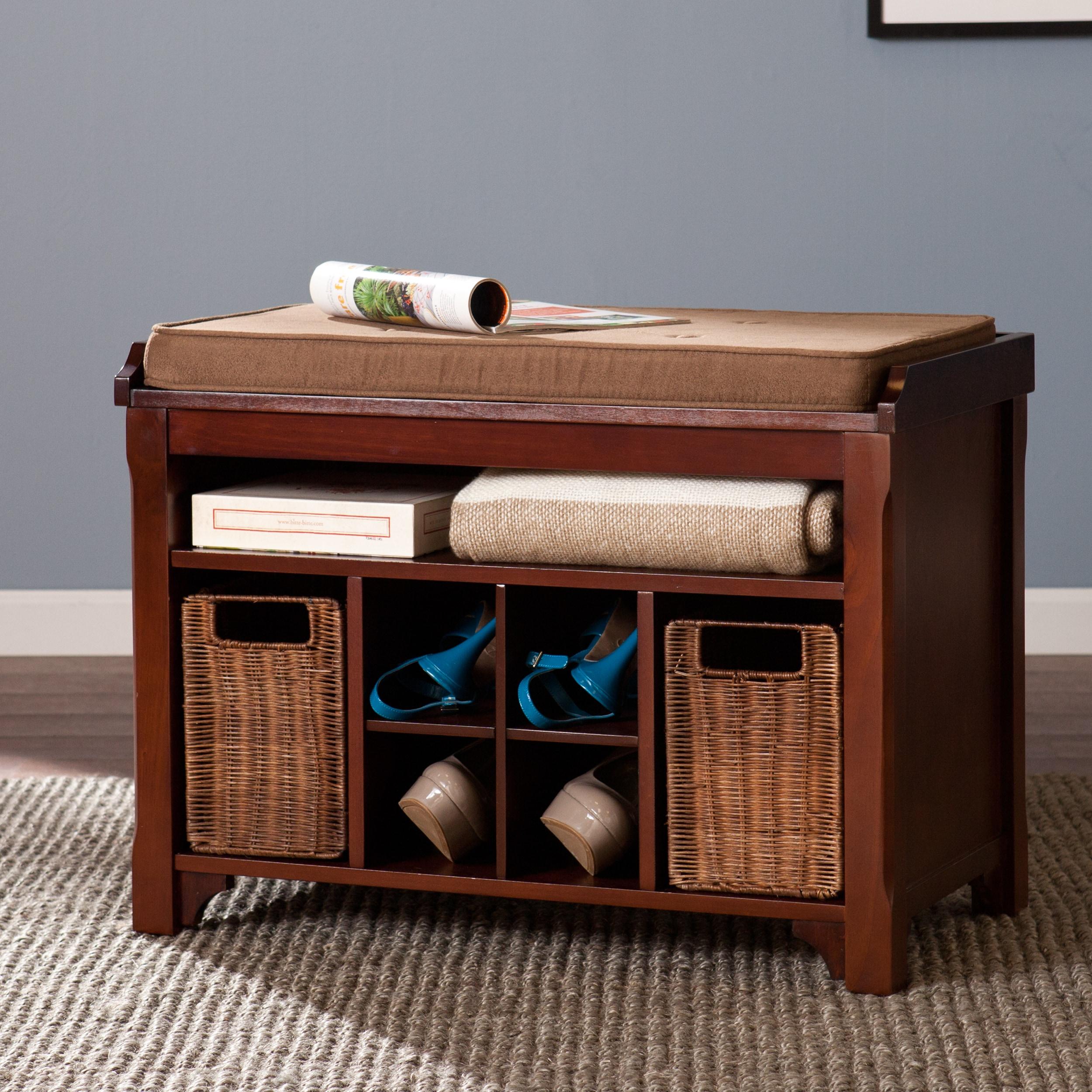 Strange Harper Blvd Fallon Espresso Storage Bench Lamtechconsult Wood Chair Design Ideas Lamtechconsultcom