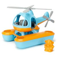 Green Toys Blue and Orange Plastic Helicopter