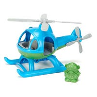 Green Toys Blue and Green Plastic Helicopter