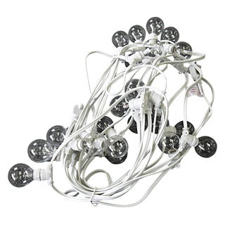 Asian Import Store Distribution OUT25G4018CL-WH 29' Light White Wire Outdoor Patio Light Set