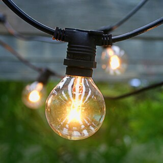 Asian Import Store Distribution OUT25G4018CL-BK 29' Light Black Wire Outdoor Patio Light Set