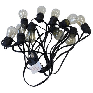 Asian Import Store Distribution OUT10NDE2618CLB 21' 10 S14 Light Black Wire Outdoor Patio Light Set