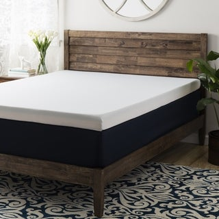 Crown Comfort 4-inch Memory Foam Mattress Topper with Cover