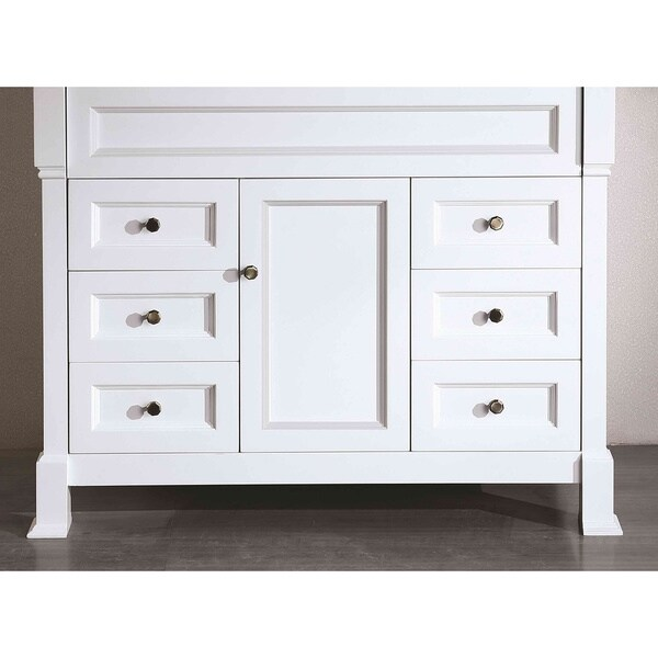 Bosconi SB-278WHMC White 43-inch Main Vanity cabinet - Free ...