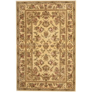 Herat Oriental Indo Hand-tufted Tibetan Wool and Silk Rug (3'9 x 5'9)
