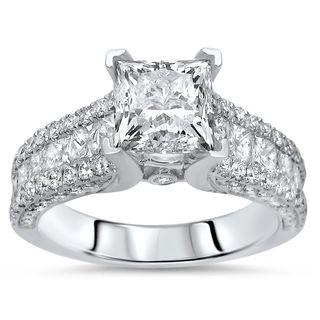 Noori Certified 14k Gold 2 2/5ct TDW Enhanced Diamond Engagement Ring (F-G, SI1-SI2) - White
