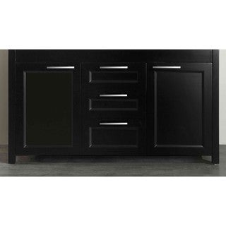 Bosconi Black 60-inch Double Vanity Floor Cabinet