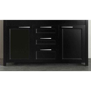 Bosconi Black 60-inch Double Vanity Floor Cabinet