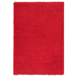 Berrnour Home Solid Plush Shag Area Rug - 3'3 x 4'7 (More options available)