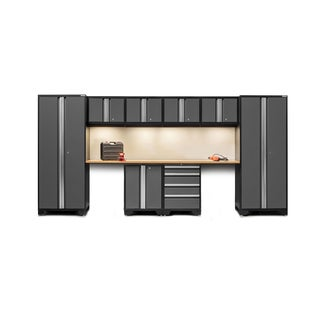 NewAge Bold Series 10-piece Cabinet Set with Bamboo Top