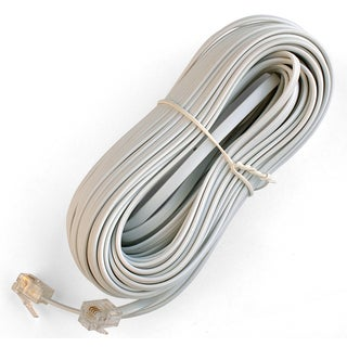 Black Point Products Inc BT-052-WHITE 50' 4 Wire White Telephone Line Cord