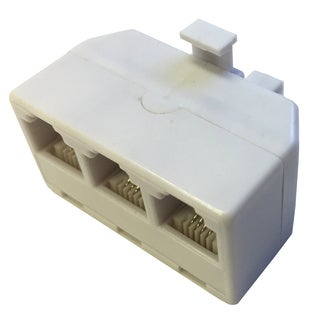Black Point Products Inc BT-047-WHITE 4 Conductor White Telephone 3 Line Adapter