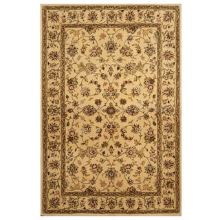 Herat Oriental Indo Hand-tufted Tibetan Wool and Silk Rug (3'9 x 5'9)