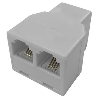 Black Point Products Inc BT-044-WHITE 4 Conductor White In-Line Telephone Coupler Adapter