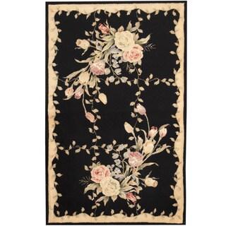 Herat Oriental Indo Hand-tufted Tibetan Wool and Silk Rug (3'5 x 5'5)