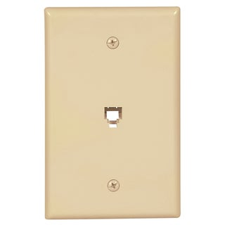 Black Point Products Inc BT-034-IVORY 4 Conductor Ivory Telephone Wall Jack Plate