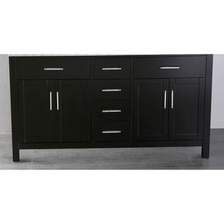 Bosconi 59-inch Black Wood and Metal Cabinet