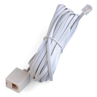 Black Point Products Inc BT-014-WHITE 25' White Modular Telephone Jack Extension Cord