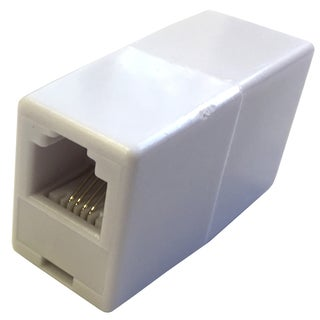Black Point Products Inc BT-013-WHITE 4 Conductor White Phone Line Cord Coupler