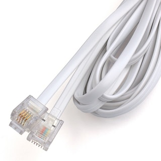 Black Point Products Inc BT-012-WHITE 10' 4 Wire White Phone Line Cord