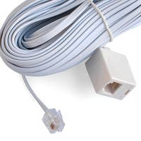 Black Point Products Inc BT-014-50-WHITE 50' White Modular Telephone Jack Extension Cord