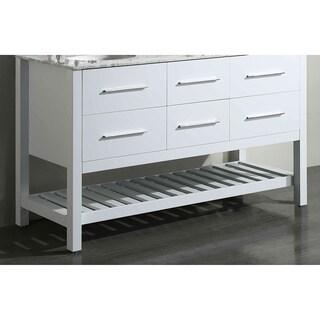 Bosconi SB-250-5WHMC White 59-inch Main Vanity cabinet