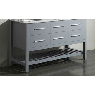 "59"" Bosconi SB-250-5GRMC Main Cabinet Gray"